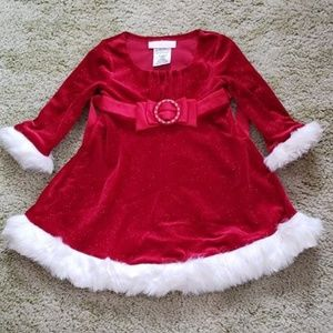 Bonnie Baby Sparkly Red Christmas Dress Sz. 18 Mo